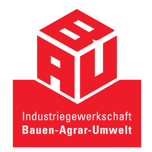 Logo der IG BAU - Industriegewerkschaft Bauen-Agrar-Umwelt