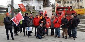 Protest gegen das Vergabegesetz