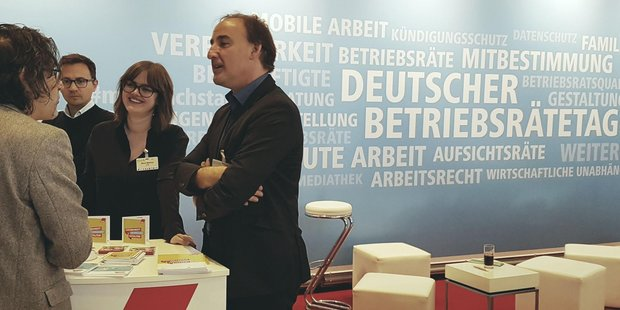 Deutscher Betriebsrätetag DGB-Stand