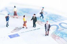 Geldscheine mit Menschen